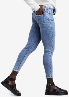 Levi's 535 Studded Super-Skinny Cropped Jeans