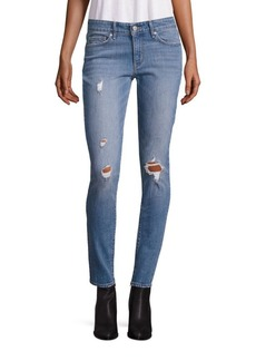 Levi's 711 Distressed Mid-Rise Skinny Jeans