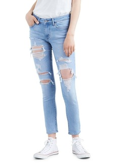 Levi's 711 Distressed Skinny Jeans
