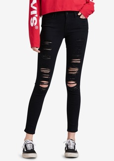 Levi's 711 Ripped Skinny Jeans