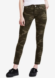Levi's 711 Camo-Print Skinny Ankle Jeans