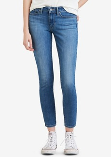 Levi's 711 Studded Zip-Detail Ankle Skinny Jeans