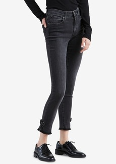 Levi's 721 Bow-Trim High Rise Skinny Ankle Jeans