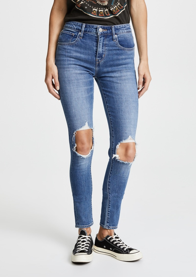 Levi's 721 High Rise Distressed Skinny Jeans