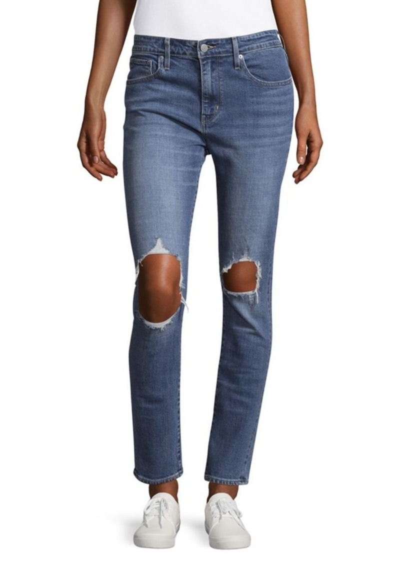 Levi's 721 High-Rise Distressed Skinny Jeans