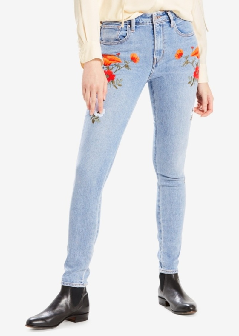 c251368ea8ee Levi's Limited 721 High-Rise Embroidered Skinny Jeans, Created for Macy's