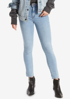 Levi's 721 High-Rise Raw Hem Ankle Skinny Jeans