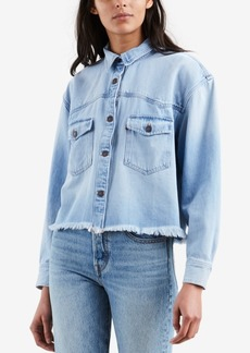 Levi's Addison Cotton Cropped Denim Shirt