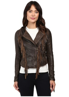 Levi's® Asymmetrical Fringe Leather Jacket