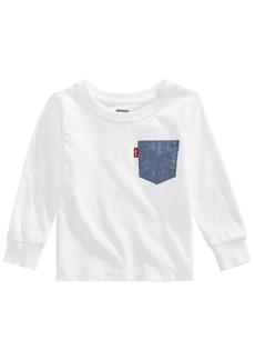 Levi's Baby Boys Chambray Pocket Cotton T-Shirt