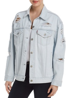 Levi's Baggy Trucker Denim Jacket in Thin Ice - 100% Exclusive