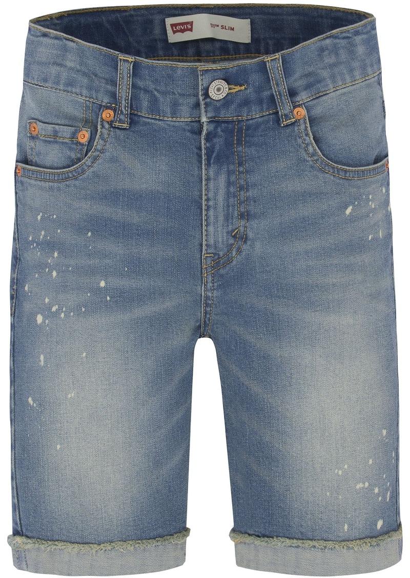 c84c0e8e45 Levi's Levi's Big Boys' 511 Slim Fit Cuffed Denim Shorts 18