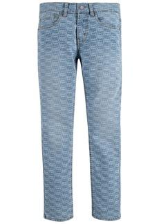 Levi's Big Boys 512 Slim Tapered-Fit Stretch Logo-Print Jeans