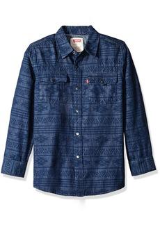 Levi's Big Boys' Denim Western Shirt