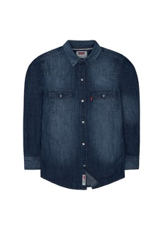 Levi's Big Boys' Denim Western Shirt