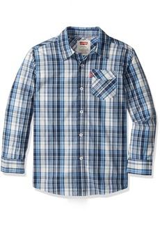 Levi's Big Boys' Long Sleeve One Pocket Shirt  M