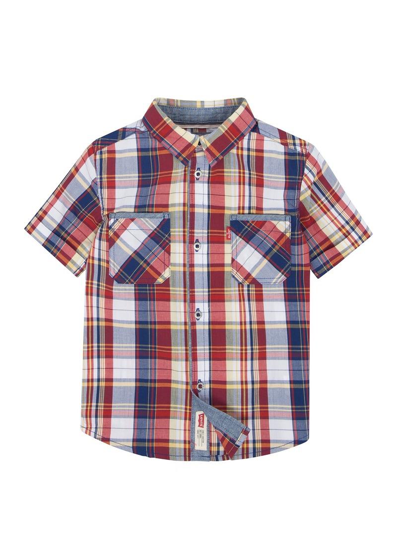 46bb028120 Levi s Levi s Big Boys  Short Sleeve Button up Shirt M