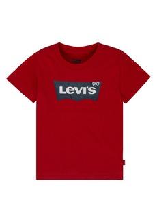Levi's Big Boys' Red Batwing T-Shirt Red L