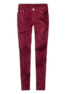 Levi's Girls' Big 710 Super Skinny Fit Faux Suede Jeans Beet red