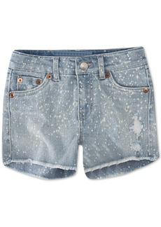 Levi's Big Girls Bleach Splatter Denim Shorts