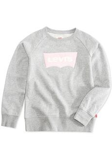 Levi's Big Girls Chenille Logo Sweatshirt