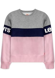Levi's Big Girls Colorblocked Fleece Sweatshirt