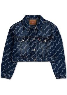 Levi's Big Girls Cotton High-Rise Denim Jacket