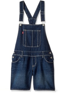 Levi's Big Girls' Denim Shortalls