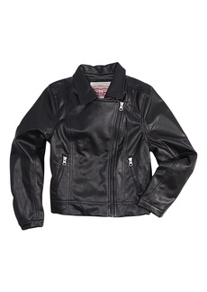 Levi's Big Girls' Faux Leather Motorcycle Jacket  S