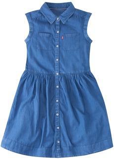 Levi's Big Girls' Rolled Short Sleeve Woven Shirt Dress