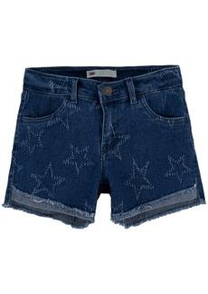 Levi's Big Girls Star-Print High-Low Hem Denim Shorts