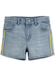 Levi's Big Girls Stretch Denim Shorty Shorts