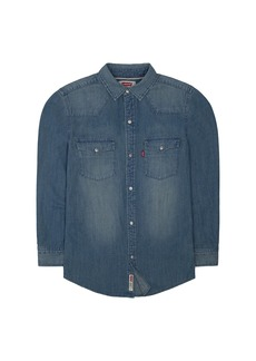 Levi's Boys' Big Denim Western Shirt