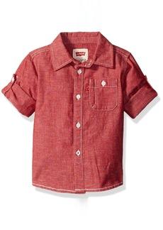 Levi's Boys' Sleeve One Pocket Button-up Shirt