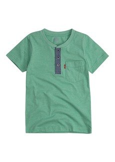 Levi's Boys' Pocket Henley T-Shirt ming Green L