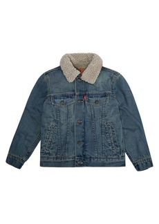 Levi's Boy's Sherpa-Lined Denim Trucker Jacket