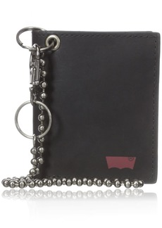 Levi's Boys Wallet with A Chain and Logo