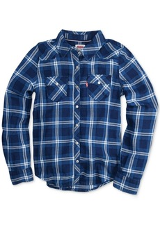 Levi's Buffalo Plaid Long-Sleeve Shirt, Big Girls