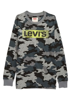 Levi's® Camo Print Long Sleeve Graphic Tee (Big Boy)