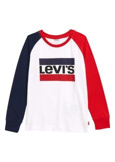 Levi's® Colorblock Long Sleeve Shirt (Toddler Boys & Little Boys)