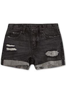 Levi's Cotton Colorblocked Girlfriend Shorty Shorts, Big Girls