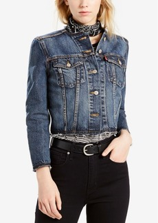 Levi's Cotton Cutoff Trucker Jacket