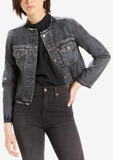 Levi's Cotton Cutoff Trucker Jacket