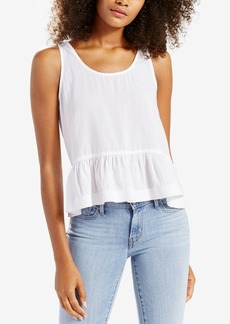 Levi's Cotton Denim Peplum Top