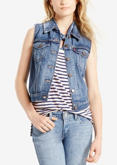 Levi's Cotton Denim Trucker Vest