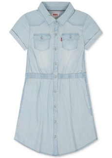 Levi's Cotton Denim Western Dress, Little Girls