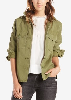 Levi's Cotton Army Embroidered Shirt Jacket
