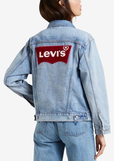 Levi's Cotton Batwing Ex-Boyfriend Denim Jacket