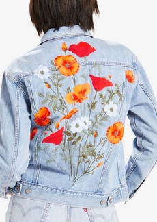 Levi's Limited Ex-Boyfriend Embroidered Cotton Denim Trucker Jacket, Created for Macy's