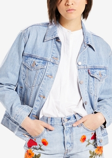 Levi's Cotton Ex-Boyfriend Embroidered Trucker Jacket